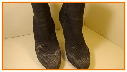 Удаление на обуви разводов от реагентов, пятен соли, частичное восстановлен